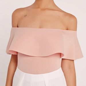 Blush Off The Shoulder Bodysuit